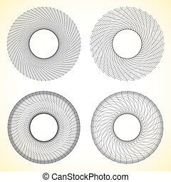 Set of geometric circle elements