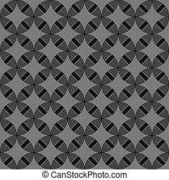 Seamless circles, rings black / white geometric pattern