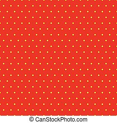 Dotted repeatable popart like duotone pattern. Speckled red...