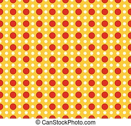Circles pattern - Basic duotone, red-yellow repeatable...