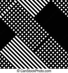 Grid, mesh irregular repeatable pattern, black white texture