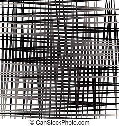 Irregular mesh, grid with random lines. Abstract geometric...