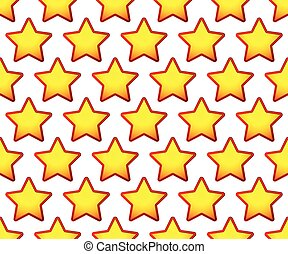 Repeatable pattern with red, yellow star shapes
