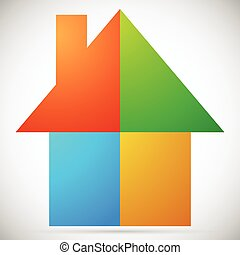 Colorful home, house icons, logos to illustrate real estate,...