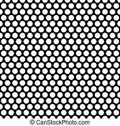 Grating pattern with grid, mesh of circles. Repeatable.