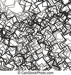 Random chaotic lines abstract grayscale texture pattern
