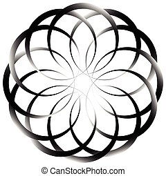 Circular geometric decorative pattern Abstract round element...
