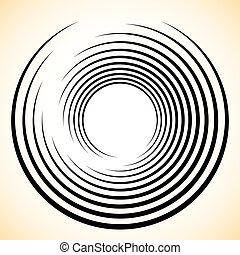 Spiral Vortex element Concentric, radiating lines abstract...