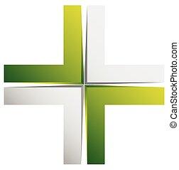 Bright cross, X sign, icon - Generic 3d design element