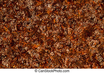 Oxidized Metal Surface Making an Abstract Texture Background