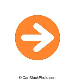 Arrow in circle icon, flat style - Arrow in circle icon in...