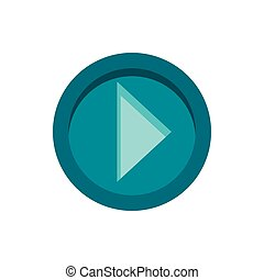 Cursor to right in circle icon, flat style - Cursor to right...