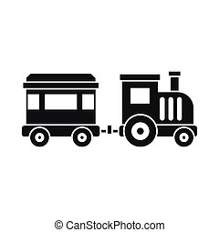 Toy train icon, simple style - Toy trainin simple style...