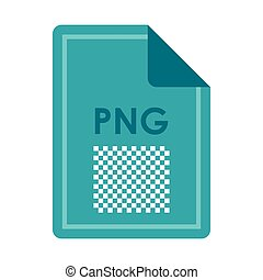File PNG icon, flat style - File PNG icon in flat style...