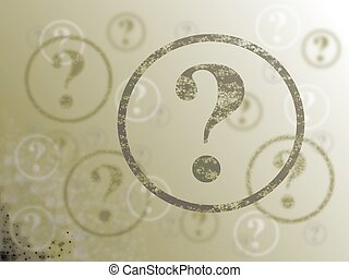 Question Mark Background Sepia - Blue and white background...