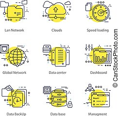 Datacenter Line Concept - Datacenter line concept with a...