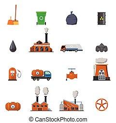 Environmental Pollution Icon Set