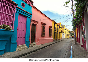 Colorful Colonial Architecture - Bright and colorful...