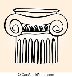 Vector Greek ornament. - Vector image of ancient Greek...