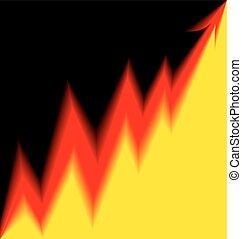 Up Arrow stylized German flag blur