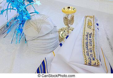 Bar Mitzhvah jewish religious symbol Prayer Shawl - Tallit,...