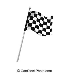 flag checkered race - flag checkered waving pole race finish...