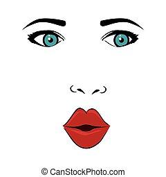 woman face pop art