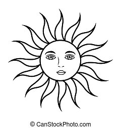 sun face astrology - sun face mystical astrology mythologic...