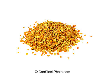 Bee pollen - Bunch of bee pollen isolated on white