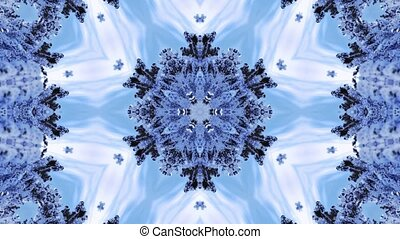 Surreal christmas transparent kaleidoscopic pattern with...