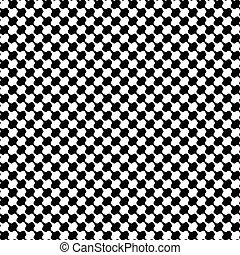 Black and white distort checkered abstract background