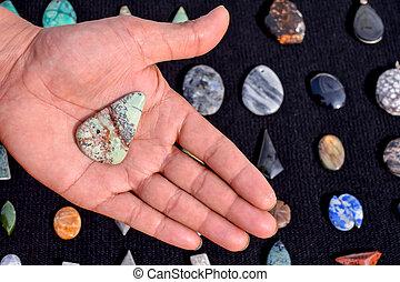 Semi Precious Rock Stone Jewel - Photo Picture of Semi...
