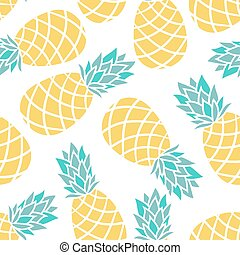 Cartoon pineapple on a white background. Simple vector...