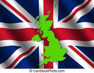 UK map on flag