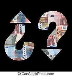 economic uncertainty with euros