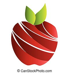 red apple fruit food agriculture healthy lifestyle vector...