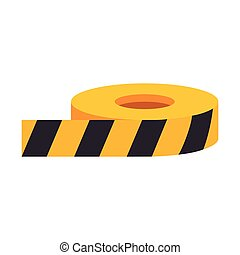 roll of caution tape - roll of yellow and black caution...
