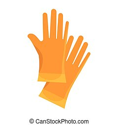 gloves industrial security equipment - yellow gloves work...