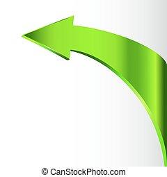Green arrow rises from the right corner - green arrow rises...