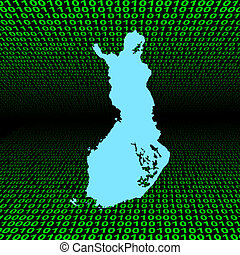 Finland map on binary code