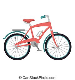 pink classic bicycle