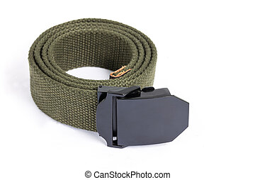 Men's fashion outdoor military tactical belt on white...