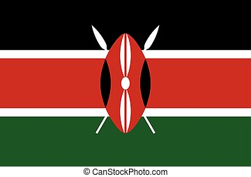 Flag of Kenya in correct proportions and colors - Flag of...