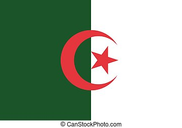 Flag of Algeria in correct proportions and colors - Flag of...