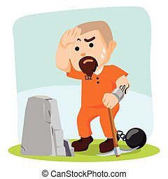 convict prison work illustration design