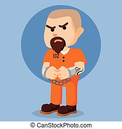 convict in chain illustration design