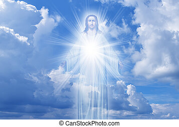 Jesus Christ in Heaven religion concept - Jesus Christ in...