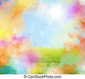 primavera, colorido