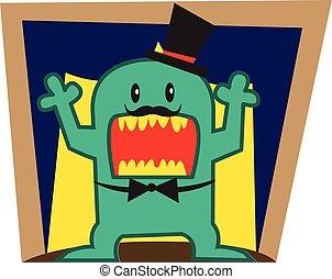 Green Monster vector art