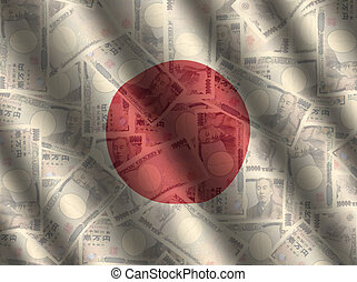 currency and Japanese flag